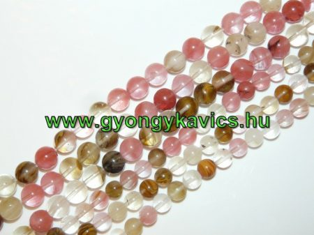Görögdinnye Üveggyöngy Gyöngyfüzér 10mm