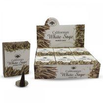 Green Tree Kaliforniai Fehér Zsálya Californian White Sage Füstölő Kúp (Nagyobb kúp, 12db)