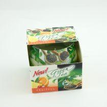 Gyümölcsös Zöld Tea Poharas Illatgyertya