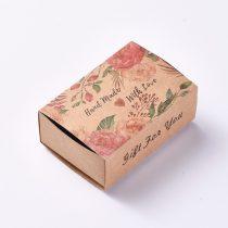 Kézzel Készült Szeretettel Handmade With Love Díszdoboz Ékszerdoboz Ajándékdoboz 8,5x6x3cm