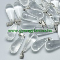 Hegyikristály Ásvány Medál 28-30x10x12mm