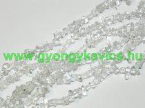 Hegyikristály Ásványtörmelék Ásványgyöngy Gyöngyfüzér 4-10mm 80cm