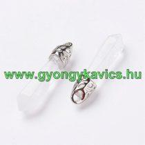 Hegyikristály Ásvány Medál 33-40x8-9mm