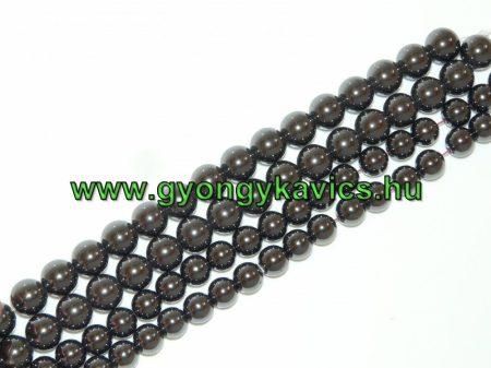 Magnetit Mágneses Hematit Ásványgyöngy Gyöngyfüzér 8mm