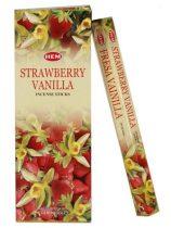 Hem Eper Vanília Strawberry Vanilla Illatú Füstölő