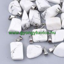 Howlit Ásvány Medál Ezüst Színű Akasztóval 15-35x10-20x5-15mm