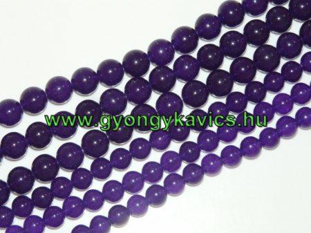 Indigó Kék Jade Ásványgyöngy Gyöngyfüzér 10mm