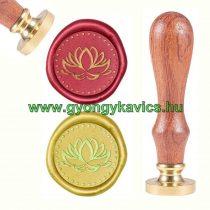 Jóga Lótuszvirág (4) Viaszpecsétnyomó Pecsét Pecsételő 25,5mm