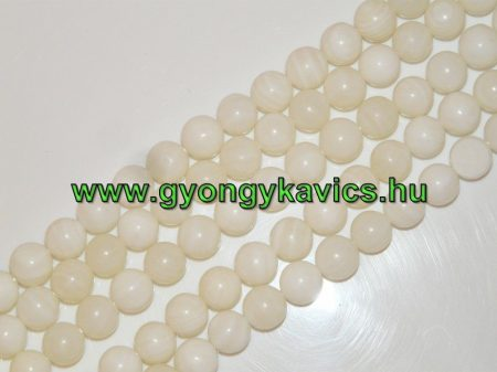 Fehér Kagyló Gyöngy 10mm