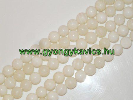 Fehér (1) Kagyló Gyöngy 10mm