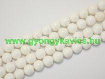 Fehér (2) Kagyló Gyöngy 8mm