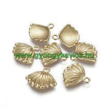 14k Aranyozott Kagyló Medál Kakötő Nyaklánc 17,5x15,5mm