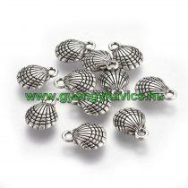 Ezüst Színű Kagyló Medál Kakötő Nyaklánc 13x10mm
