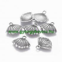 Ezüst Színű Kagyló Medál Kakötő Nyaklánc 17,5x15,5mm