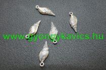 Ezüst Színű Kagyló Medál Kakötő Nyaklánc 24x9mm