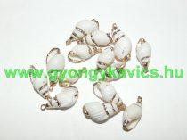 Aranyozott Kagyló Medál, Fülvevaló Alap 18-19x8-9mm