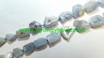 Kalcedon Ásványgyöngy Gyöngyfüzér 23-42x14-28mm