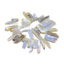 Kalcedon Oszlop Ásványgyöngy Gyöngyfüzér 20-65x7-15x6-10mm