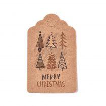 Karácsonyfa Karácsonyi Árazócimke Ajándékcimke Üdvözlőkártya 50x30mm