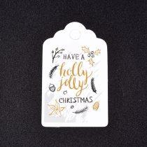 Karácsonyi Árazócimke Ajándékcimke Üdvözlőkártya 50x30mm