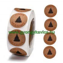 Karácsonyi (48) Matrica Kerek 25mm (500db)