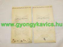 Karácsonyi Papírzacskó Ajándékzacskó Díszzacskó Dísztasak 12x22x6cm