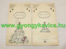 Karácsonyi Karácsonyfa Papírzacskó Ajándékzacskó Díszzacskó Dísztasak 12x22x6cm