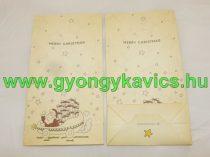 Karácsonyi Mikulás Papírzacskó Ajándékzacskó Díszzacskó Dísztasak 12x22x6cm