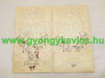 Karácsonyi Rénszarvas Papírzacskó Ajándékzacskó Díszzacskó Dísztasak 12x22x6cm