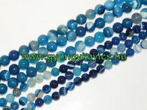 Kék Achát Ásványgyöngy Gyöngyfüzér 10mm