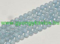 Kék Akvamarin Ásványgyöngy Gyöngyfüzér 10mm