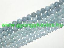 Kék Akvamarin Ásványgyöngy 6mm