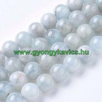 Kék Akvamarin Ásványgyöngy 8mm