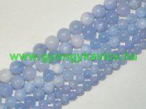 Kék (kékes lilás) Angelit Ásványgyöngy Gyöngyfüzér 10mm
