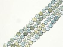 Kék Arany Hematit Hópehely Ásványgyöngy 6x2mm