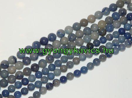 Kék Aventurin Ásványgyöngy Gyöngyfüzér 10mm