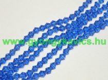 Kék Bicon Üveggyöngy 6mm