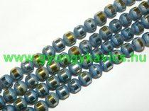 Kék Csíkos Üveggyöngy Gyöngyfüzér 8-9mm