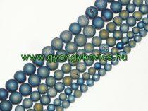Kékeszöld Druzy Achát Ásványgyöngy Gyöngyfüzér 10mm