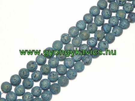 Kékeszöld Lávakő Ásványgyöngy Gyöngyfüzér 12mm