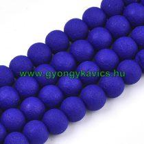 Kék Színű Festett Üveggyöngy Lávakő Imitáció Gyöngyfüzér 8mm