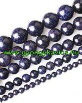 Kék Homokkő Ásványgyöngy  12mm