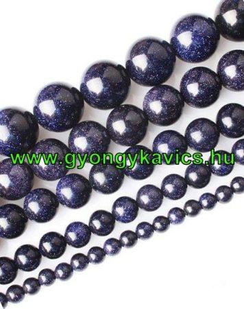 Kék Homokkő Ásványgyöngy  6mm