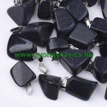 Kék Homokkő Medál Ezüst Színű Akasztóval 15-35x10-20x5-15mm