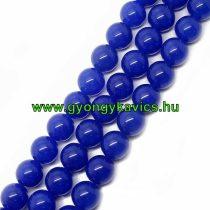 Kék Jade Ásványgyöngy Gyöngyfüzér 12mm