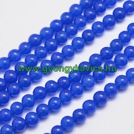 Kék Jade Ásványgyöngy Gyöngyfüzér 8mm