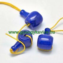 Kék Jade Guru Gyöngy 21x11mm