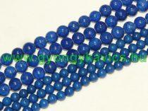Kék Jade (nem áttetsző) Ásványgyöngy Gyöngyfüzér 6mm