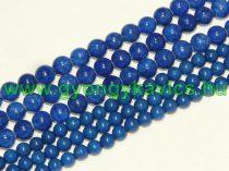 Kék Jade (nem áttetsző) Ásványgyöngy 6mm
