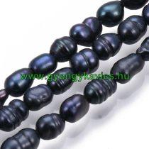 Kék Szivárványos Kagyló Gyöngy Gyöngyfüzér 3-8x4-5mm
